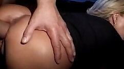 Busty milf with great tits gets anal penetration by two studs