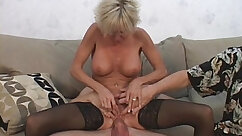 Bootyful dumpy MILF gets dirty with Asian lassies and her young hubby