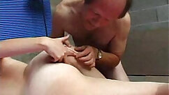 Busty French Slut Jane Pisses While Giving Barley