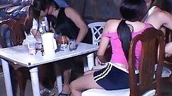 Asian teen tittyfucking in nice XXX jump bench