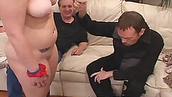 Cuckolding fucked by husband and bonded submissive mates