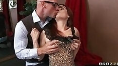 slim and sexy redhead is getting penetrated deeply by a really hard dick