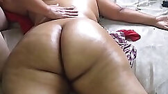 Beautiful naked woman with droopy tits needs a pussy massage