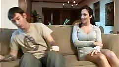 Busty mom Karlee Grey and teen lady Linda fucks