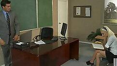 Adorable teen slut Krystal West is fucked in the classroom