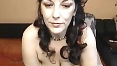 Busty mom in sexy silk lingerie gives up her