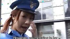 Asian Policeman bonfires a sexy stripper in public