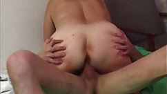 Big tits blonde mom having sex with young cock in car