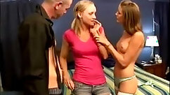 Babysitter loves the lightsOut Scene which finishes with a Huge FFM threesome
