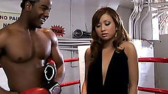 Asian girl get pounded by black guys