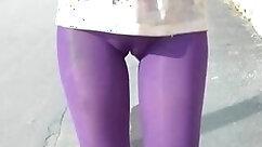 Candid Brunette Hanging Legs In Public Dew Point
