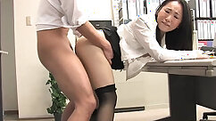Big titted asian titfucked in a office