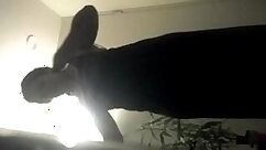 Black masseuse smoking on a hidden cam