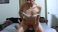 Cum haired beefy MILF gets revenge by getting her nasty ass licked