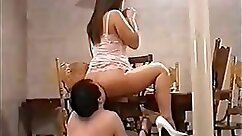 Asian Mistress Fisted Slave Anal Trampling