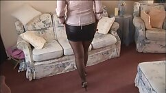 Busty mature stockings babe trained