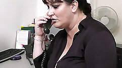 Chubby red haired Femmes Office Secretary Banged On Her Bed