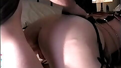 Classy chick in sexy lingerie drilled doggy