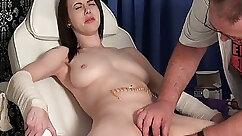 Slutty submissive pussy pounded at the torture station