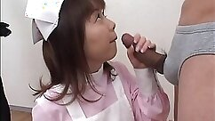 Breath-taking Japanese slut show her skill in blowing thick meat of her man