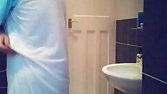 Blonde Mom Hidden Cam Fucking Teen in Bathroom