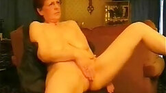 Busty classy amateur chick rubbing pussy