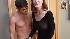 Big tits cum loving handjob