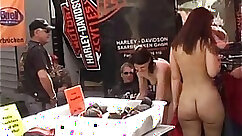 Barebackers Tied Up And Naked in Public