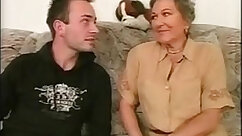 Cute boy first mature fuck with granny